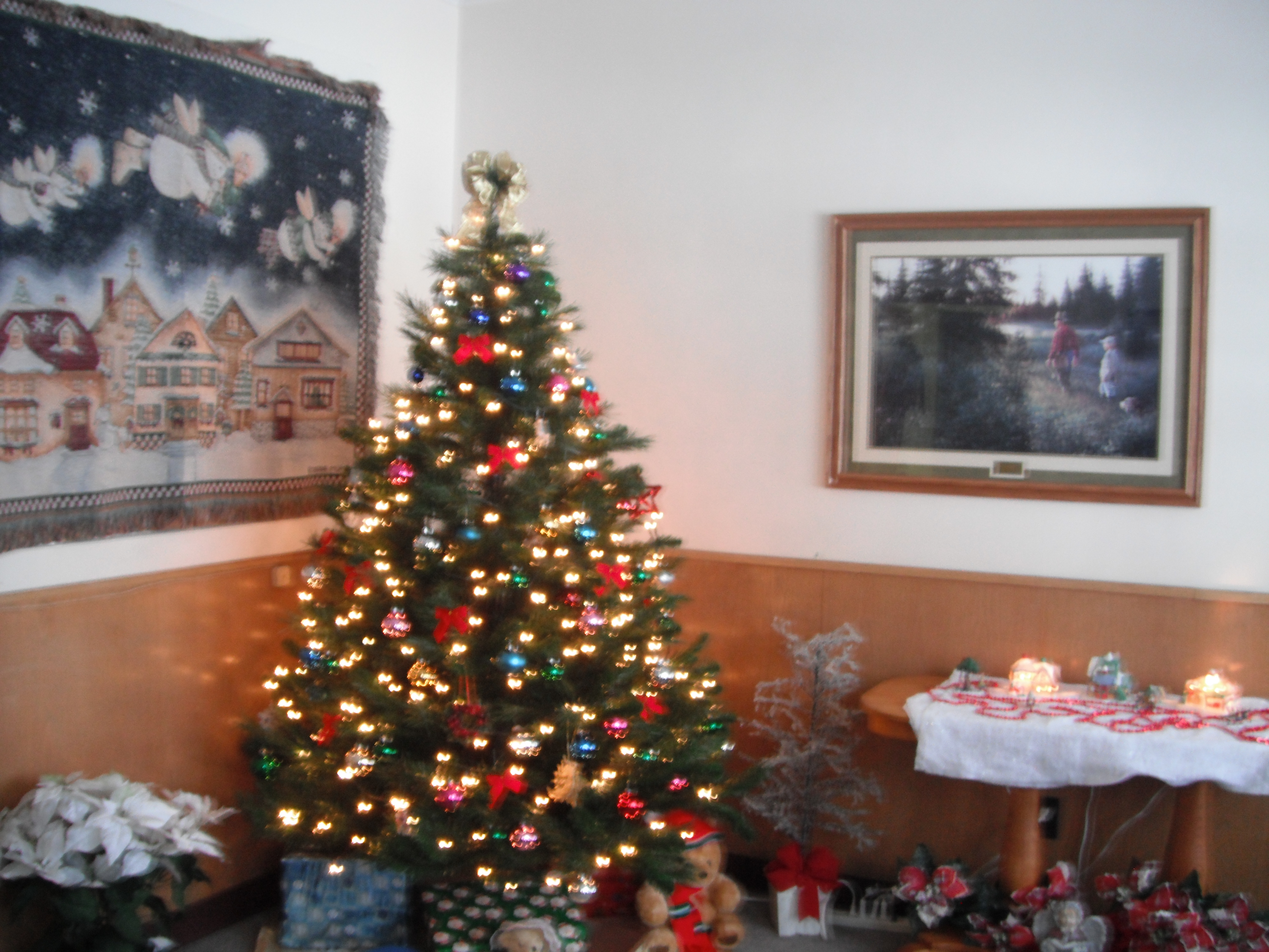 Christmas Tree Decorated With Teddy Bears Christmas Tree And Decorations