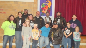 Bikers for Books group shot